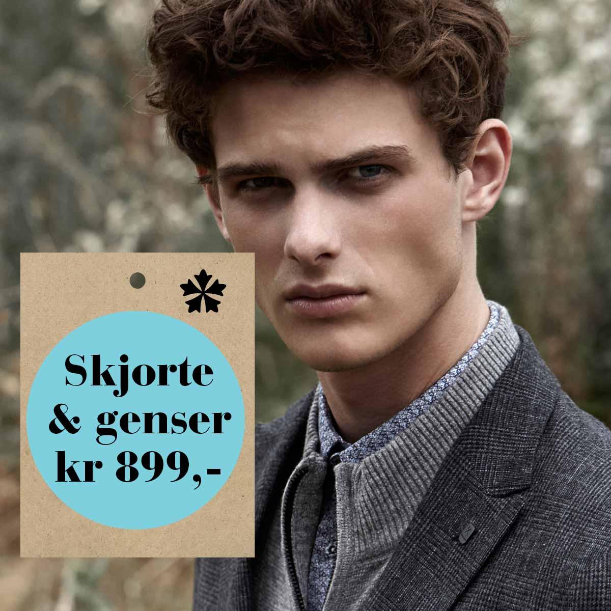 Skjorte og genser kr 899,-
